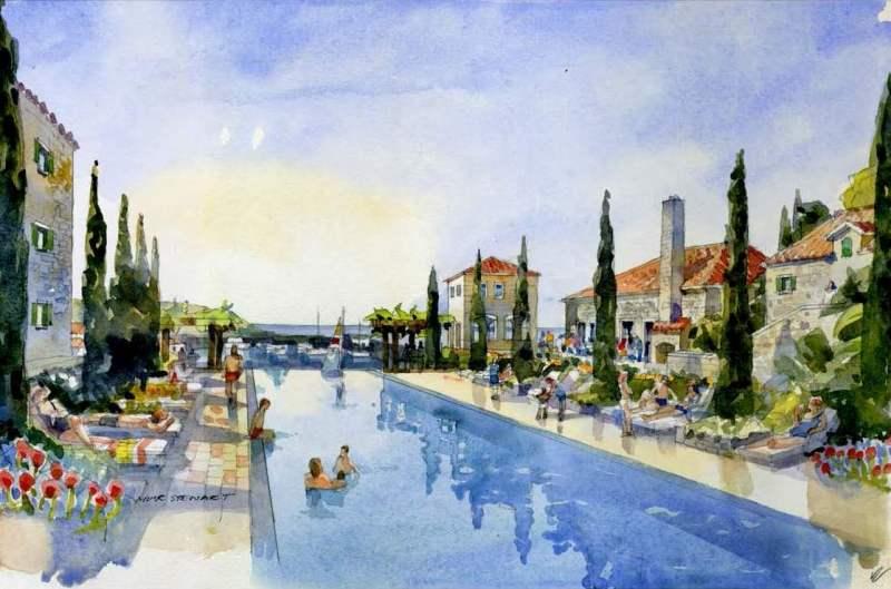 Апартаменты в кондо-отеле Lustica Bay