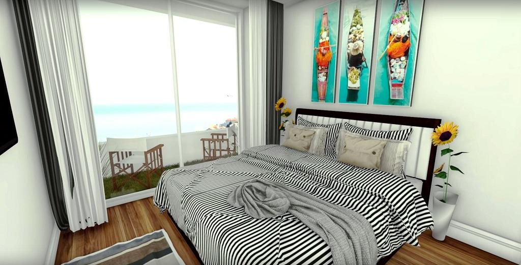 Апартаменты с 2 спальнями на 1 линии в мульти комплексе