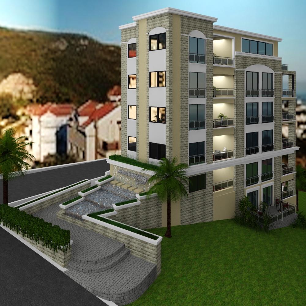 Квартира с 2 спальнями в новом комплексе в Бечичи