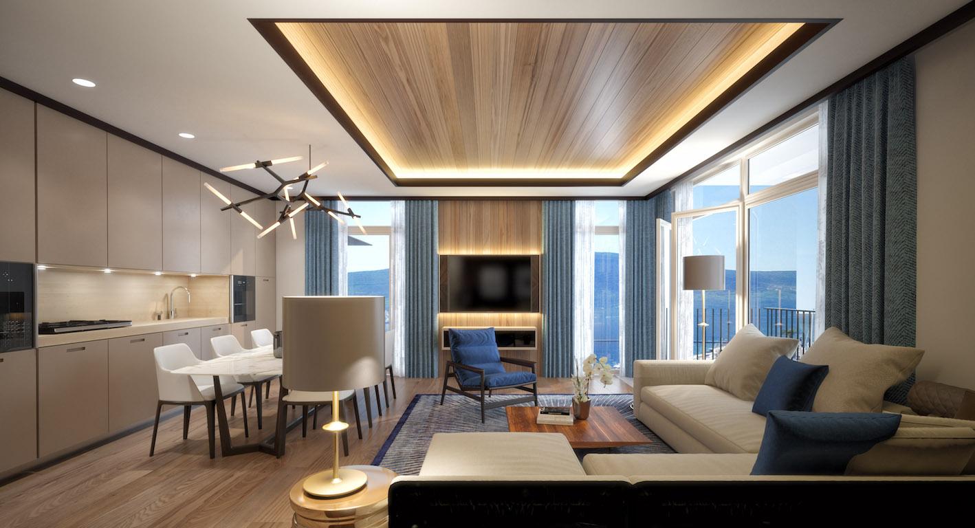 Апартамент класса «люкс» с двумя спальнями возле Порто Монтенегро