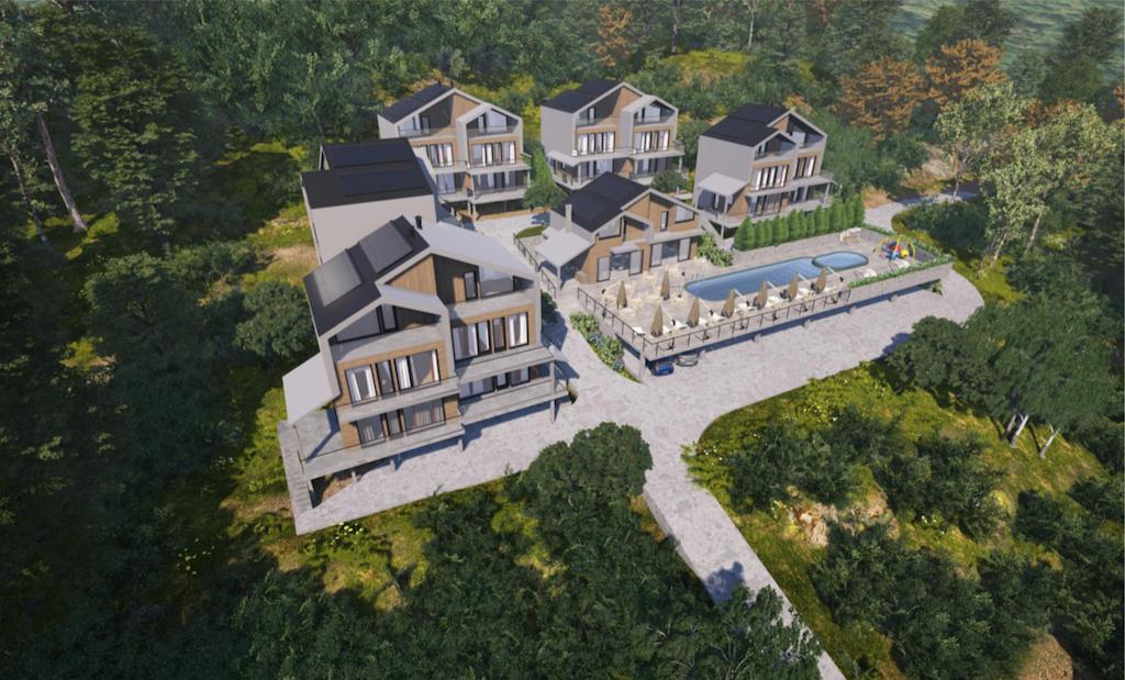 Участок в Сасовичи (Герцег Нови) с проектом жилого комплекса