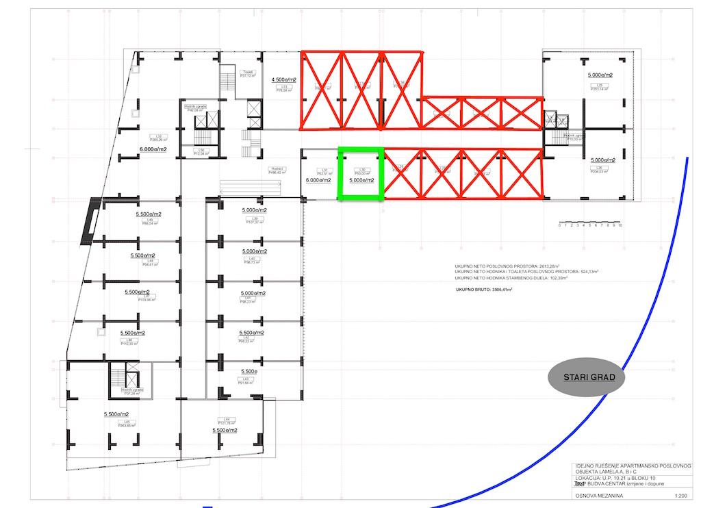 Коммерческие помещения в новом ТЦ в Будве