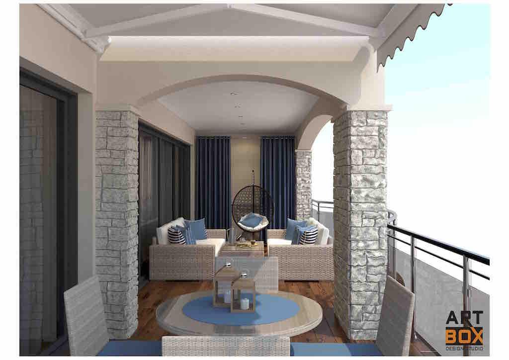 Просторный апартамент с видом на море и Свети Стефан