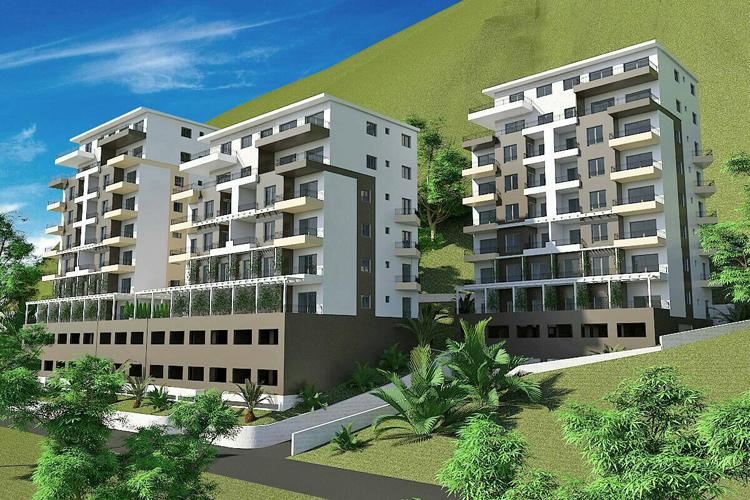 Просторный апартамент в новостройке в Будве