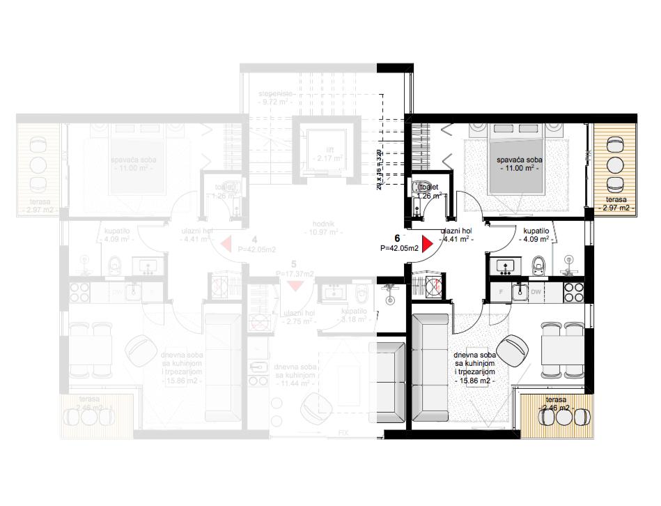 Апартамент в новом жилом комплексе в Тивате