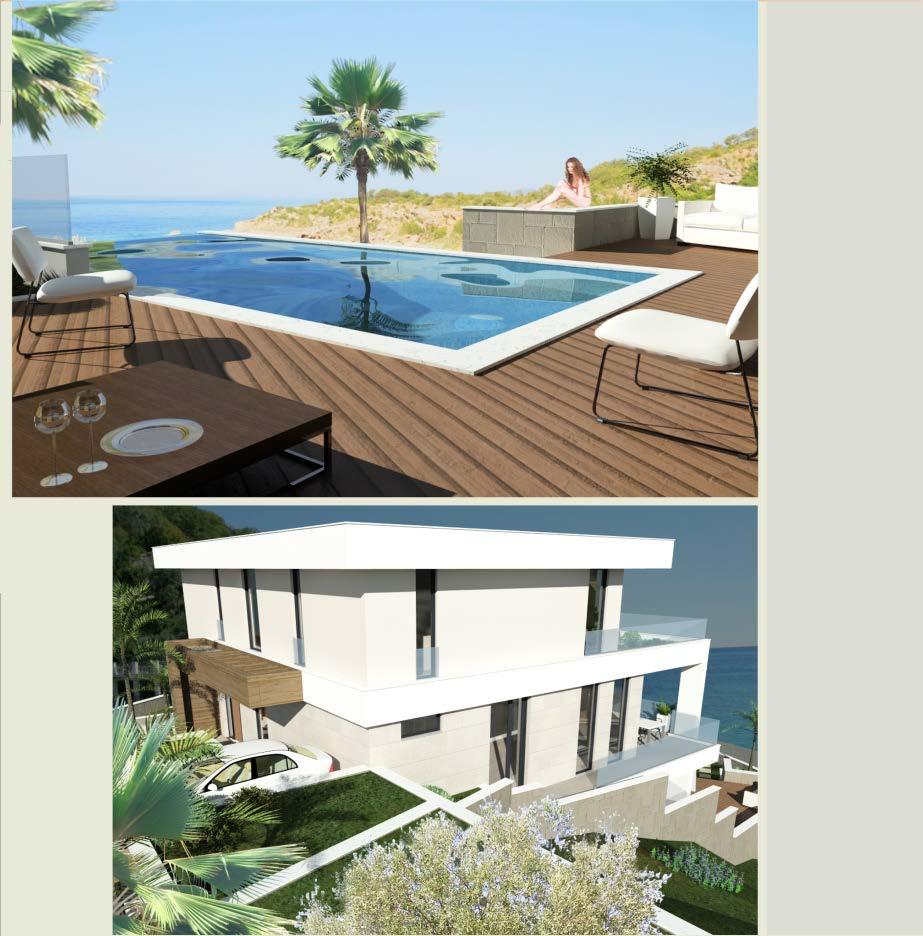Урбанизированный участок с проектом виллы в 200 м от пляжа