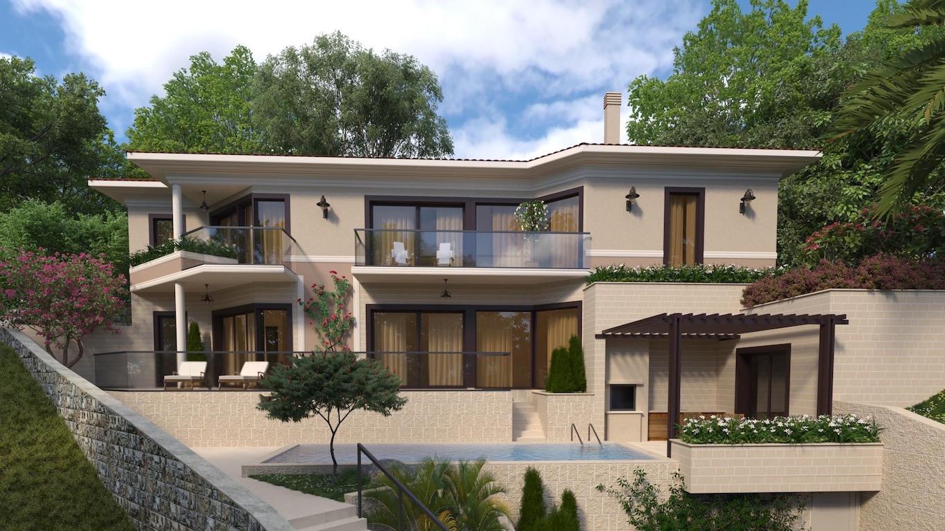 Роскошный дом в Тивате в новом комплексе