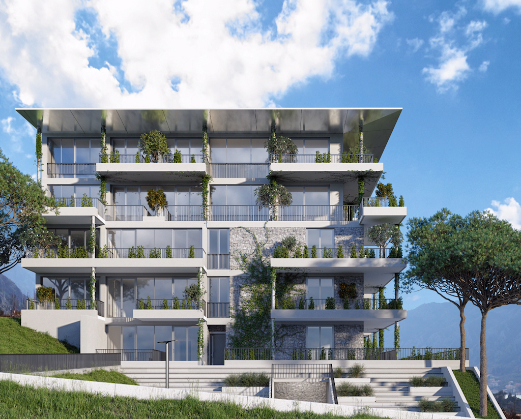 Апартамент с двумя спальнями в новом ЖК с панорамным видом на залив