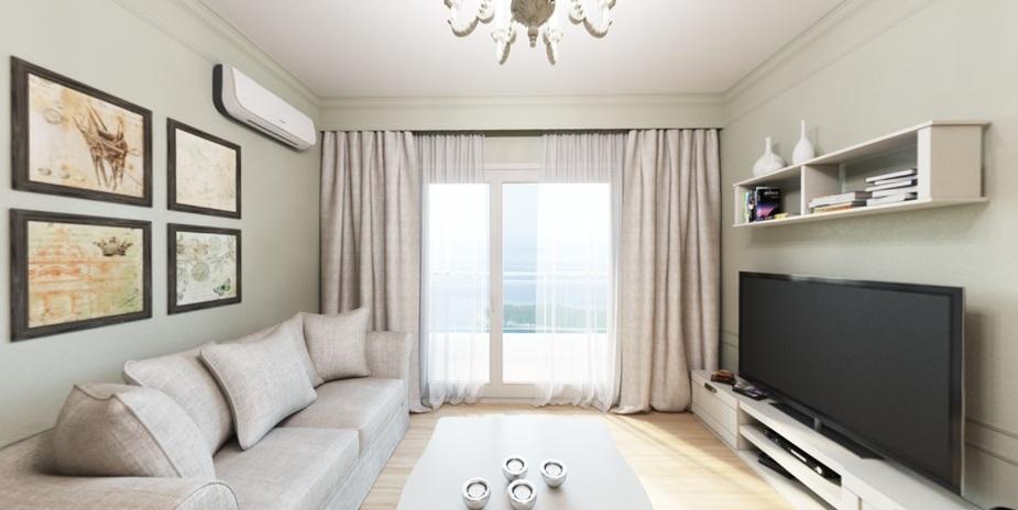 Трехкомнатная квартира в комплексе с видом на море